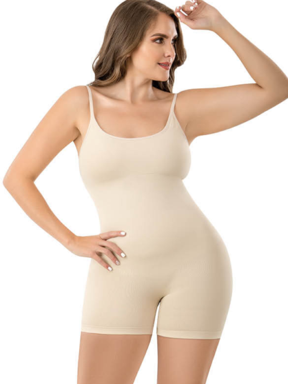 mia smoothing body shaper beige 1